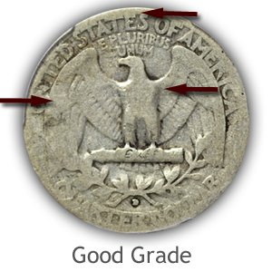 Grading Reverse Good Condition Washington Quarter