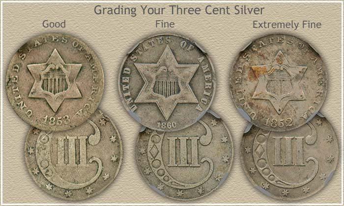 Grading Three Cent Silver Pieces