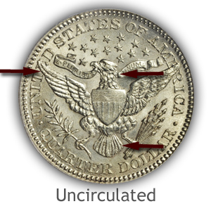 Grading Reverse Uncirculated Barber Quarters