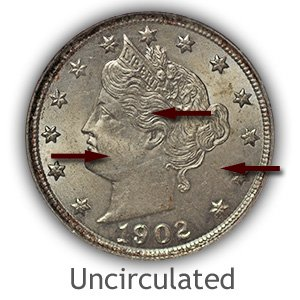 Grading Obverse Uncirculated Liberty Nickels