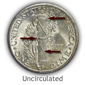 Grading Reverse Uncirculated Mercury Dimes