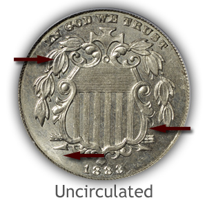Grading Obverse Uncirculated Shield Nickels