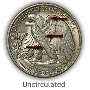 Grading Reverse Uncirculated Walking Liberty Half Dollar