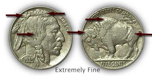 Grading Extremely Fine Buffalo Nickels
