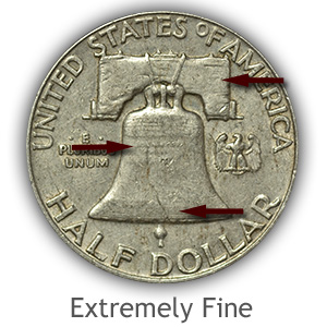 Grading Reverse Extremely Fine Franklin Half Dollar