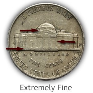 Grading Reverse Extremely Fine Jefferson Nickels
