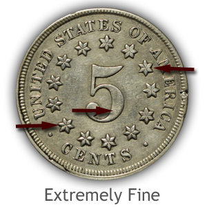 Grading Reverse Extremely Fine Condition Shield Nickels