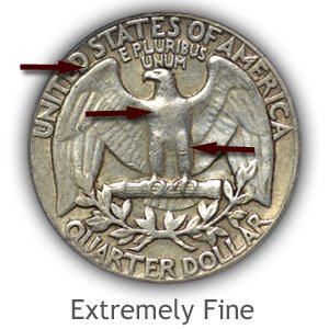 Grading Reverse Extremely Fine Washington Quarter