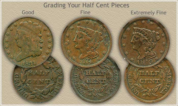 Grading Half Cent Values