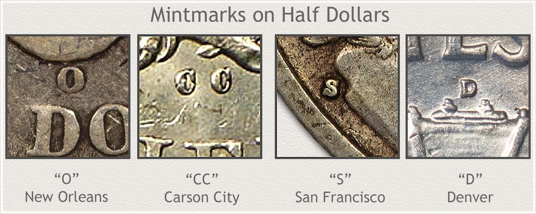 Half Dollar Mintmarks
