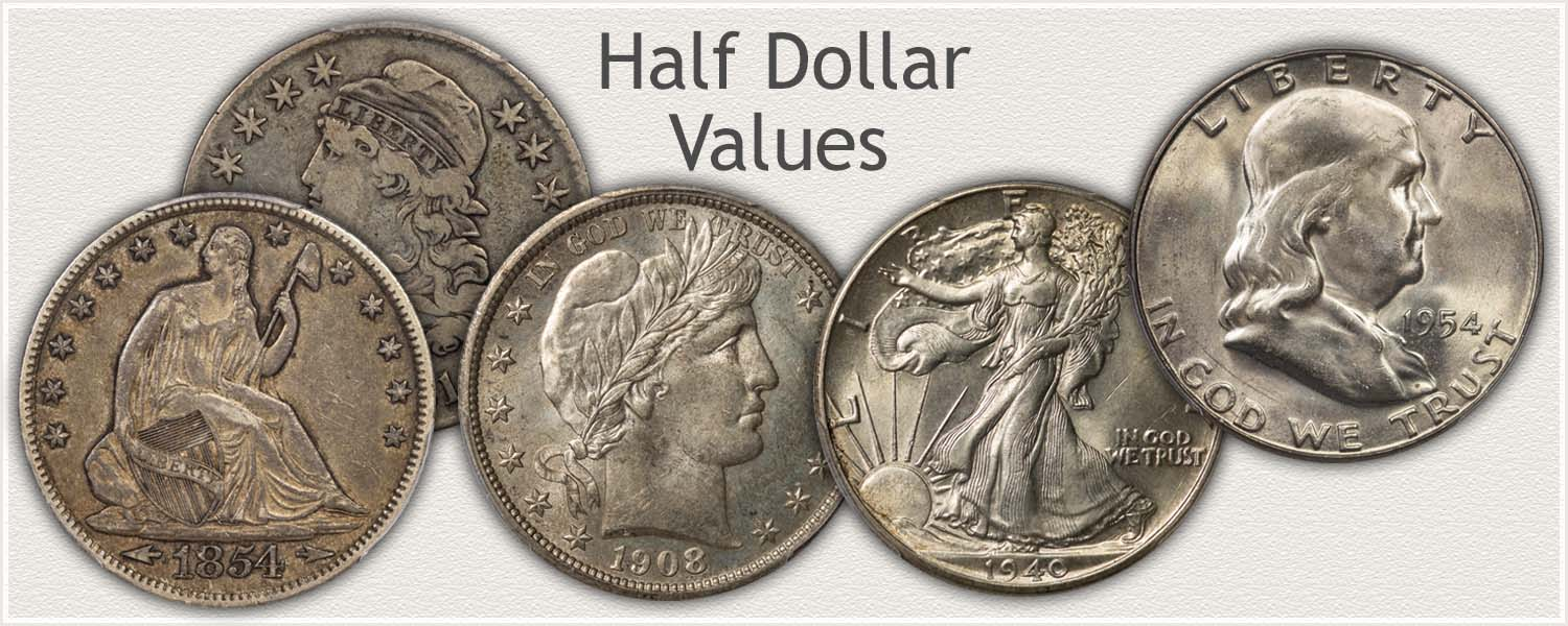 Design Series: Bust, Seated Liberty, Barber, Walking Liberty, and Franklin Half Dollars
