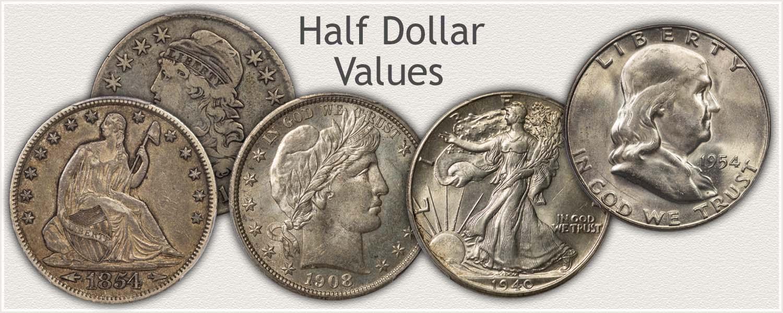 Uncirculated Bust Half, Seated Liberty, Barber, Walking Liberty and Franklin Half Dollar