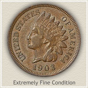 1874 Indian Head Penny Extremely Fine Condition