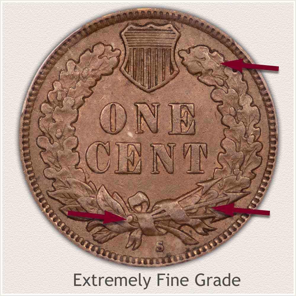 Reverse of Indian Penny in Extremely Fine Grade