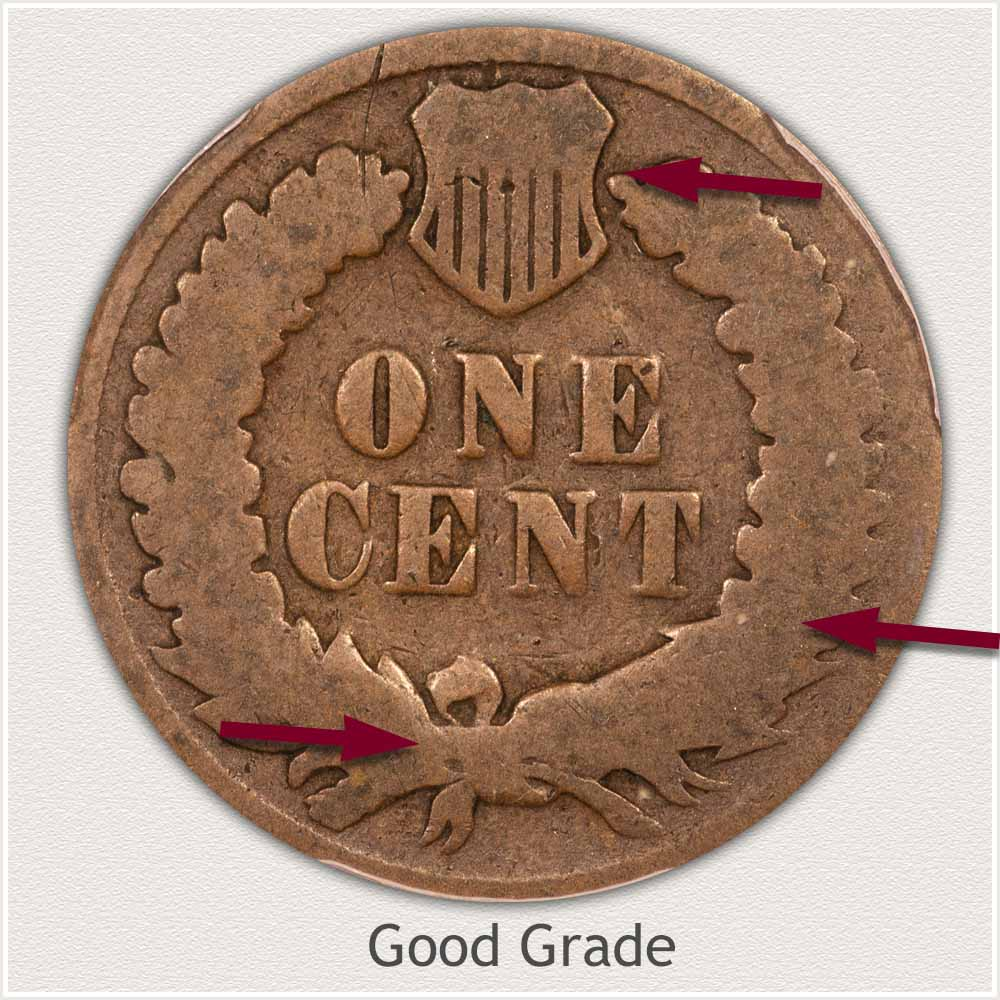 Reverse of an Indian Penny in Good Grade