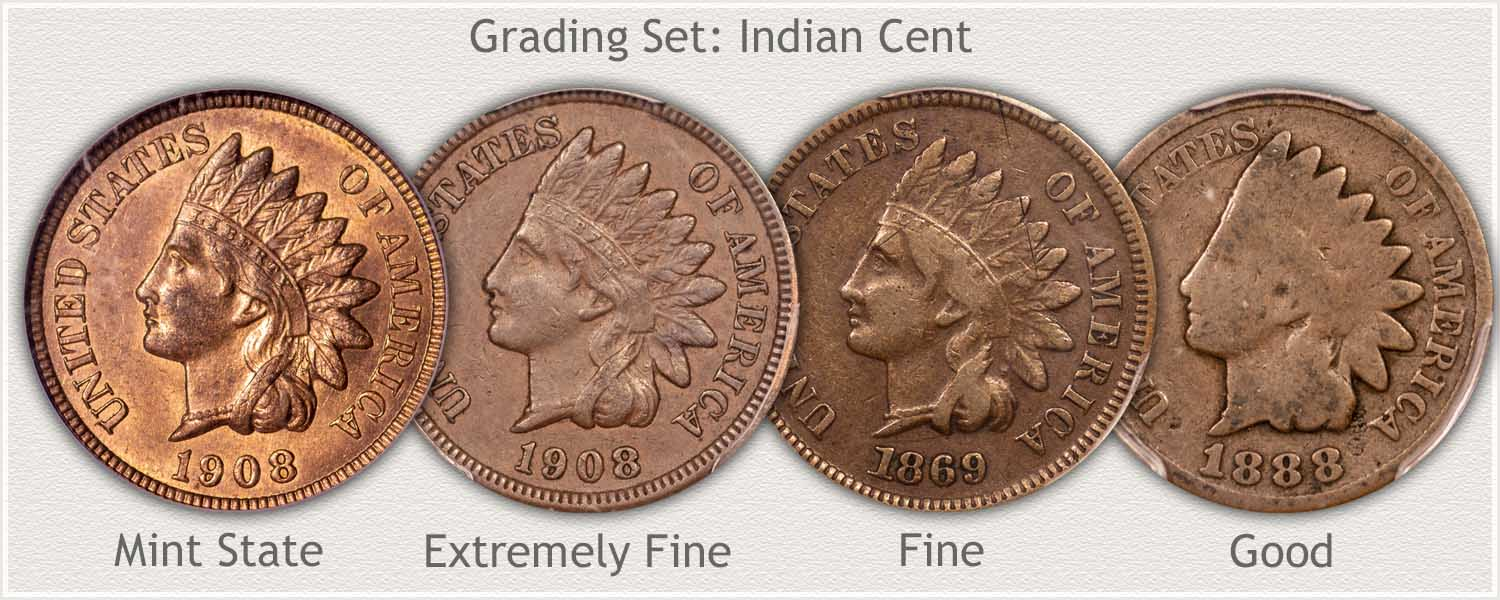Indian Pennies Grading Good   Fine   Extremely Fine   Mint State