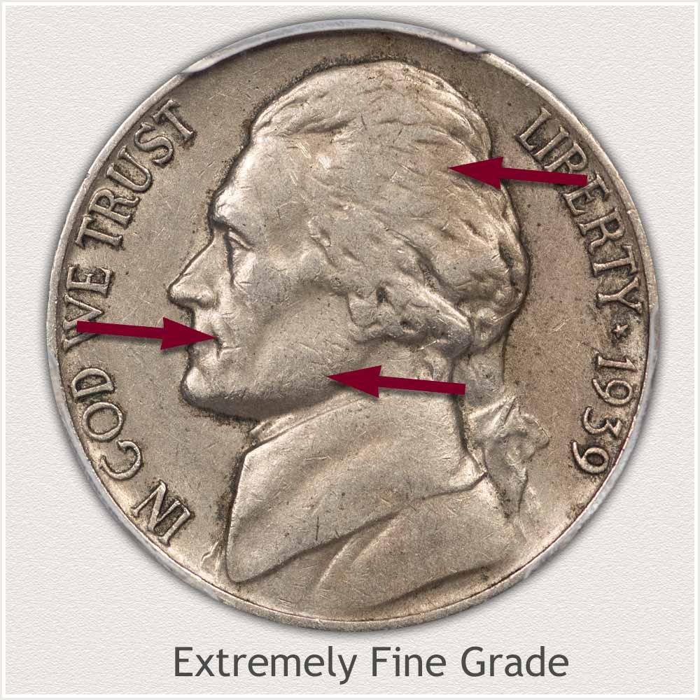 Jefferson Nickel Extremely Fine Grade