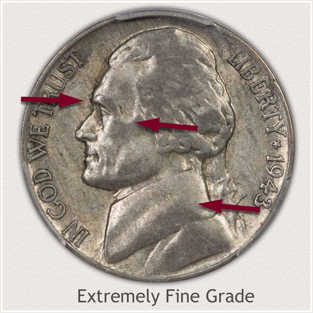 Jefferson Nickel Extremely Fine Grade