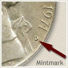 Jefferson Nickel Mintmark Location on Obverse