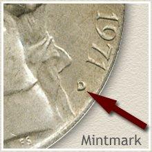 Jefferson Nickel Mintmark Location on Obverse