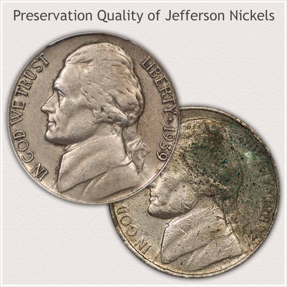 Well Preserved Nickel and Poor Quality Preservation
