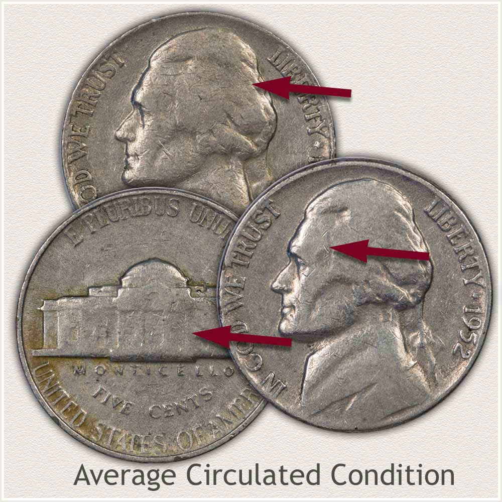 Jefferson Nickels in Average Circulated Condition