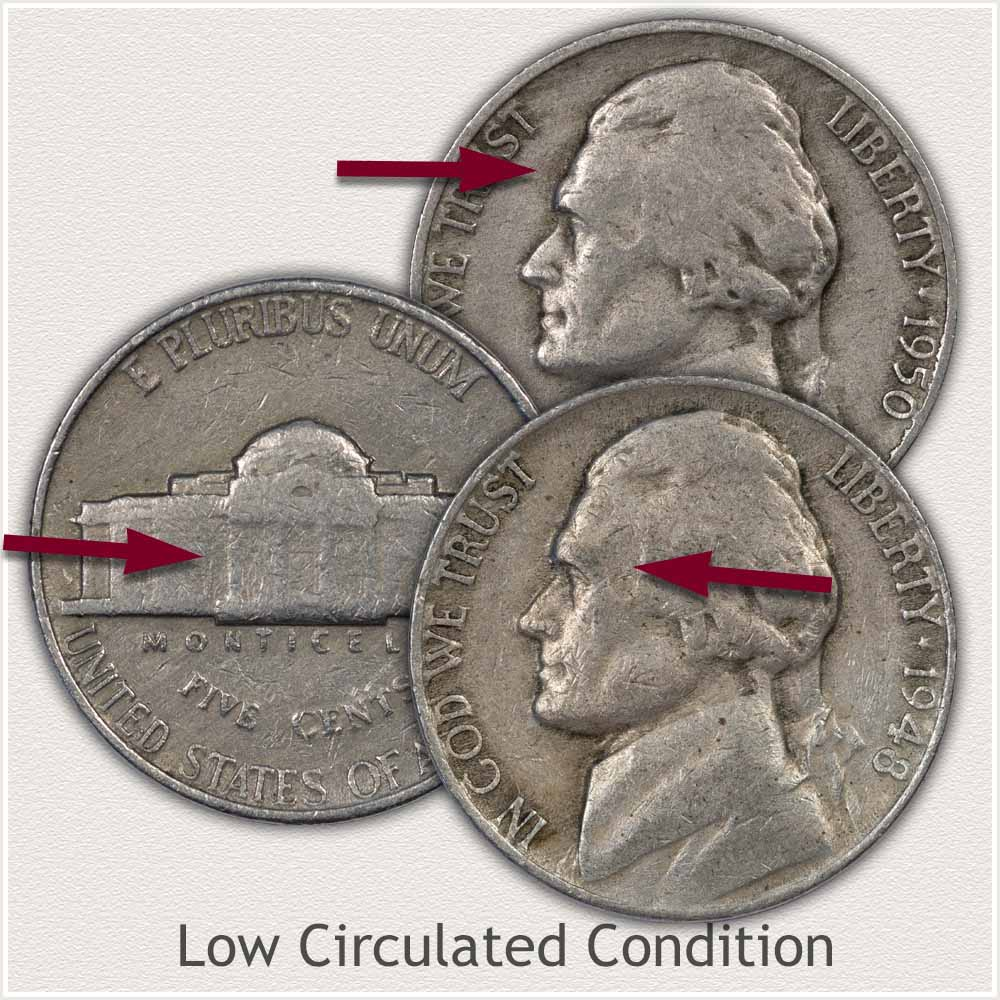 Jefferson Nickels in Low Grade Condition