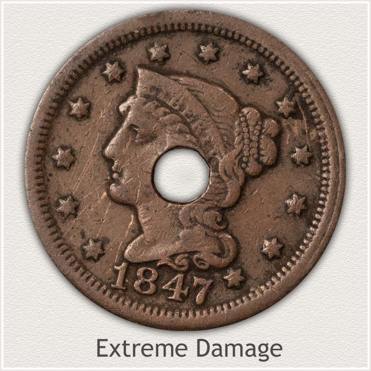 Hole in Large Cent