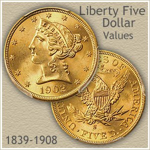 gold coin value chart: Liberty five dollar gold coin value discover their worth today