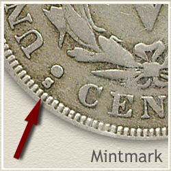 Liberty V Nickel Mintmark Location