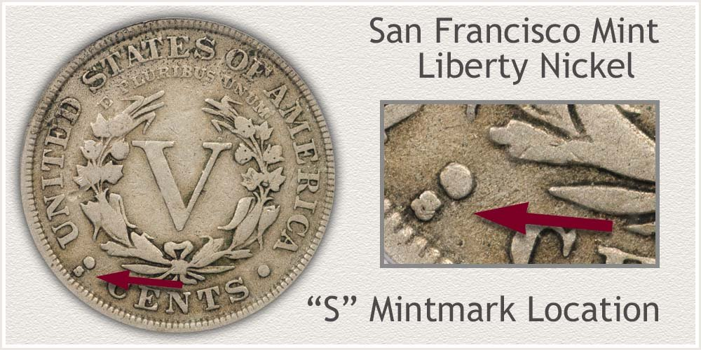 San Francisco Mint Liberty V Nickel