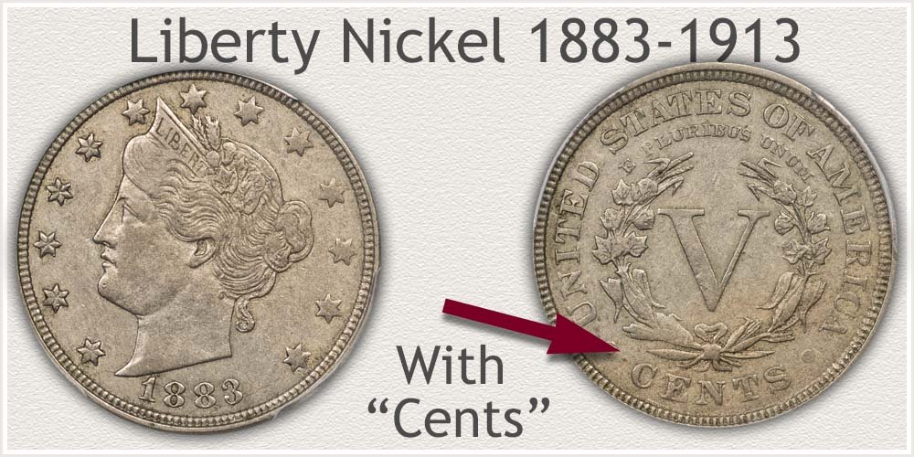 Variety II Liberty V Nickel | Cents Added to Reverse Design