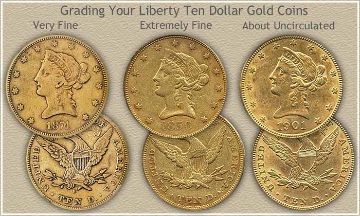 Old Liberty Coins Liberty Ten Dollar Gold Coin