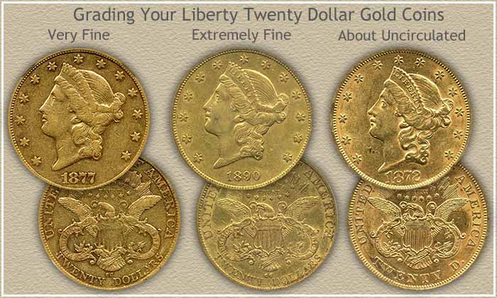 Liberty Twenty Dollar Gold Coins Grading