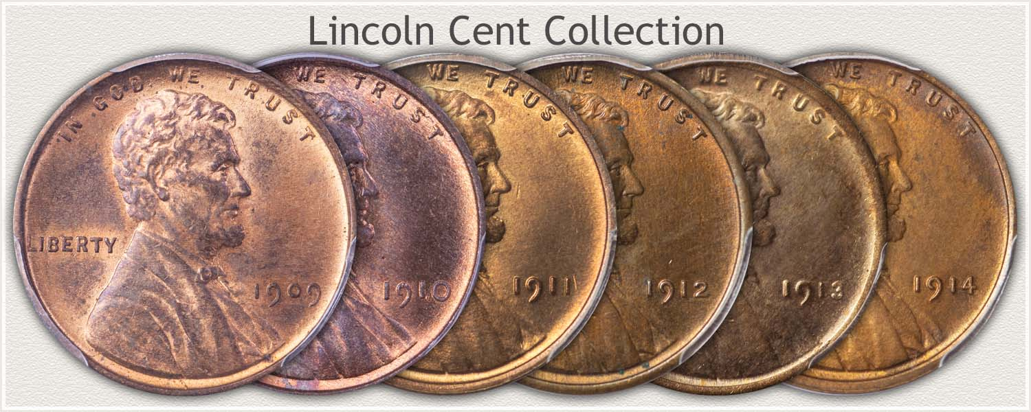 Lincoln Cent Collection of Different Dates
