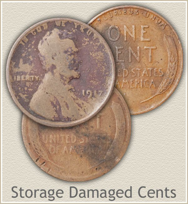 Lincoln Pennies Storage Damage