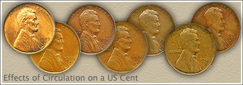 Lincoln Penny Grades Uncirculated to Good