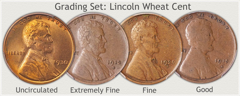 Grade Set Wheat Penny