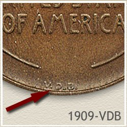 VDB Location on Lincoln Penny