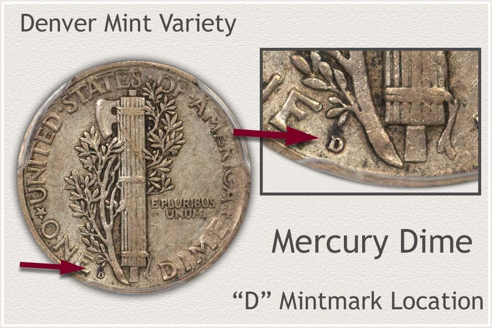 Denver  Mint Variety Mercury Dime