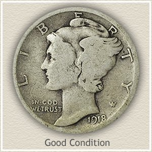 Mercury Dime Good Condition