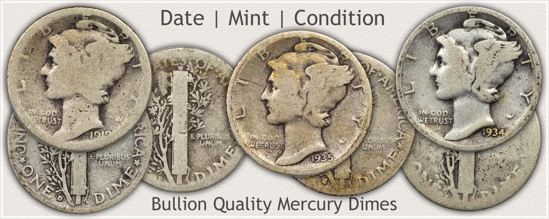 Bullion Quality Mercury Dimes