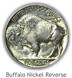 Mint State Buffalo Nickel Reverse