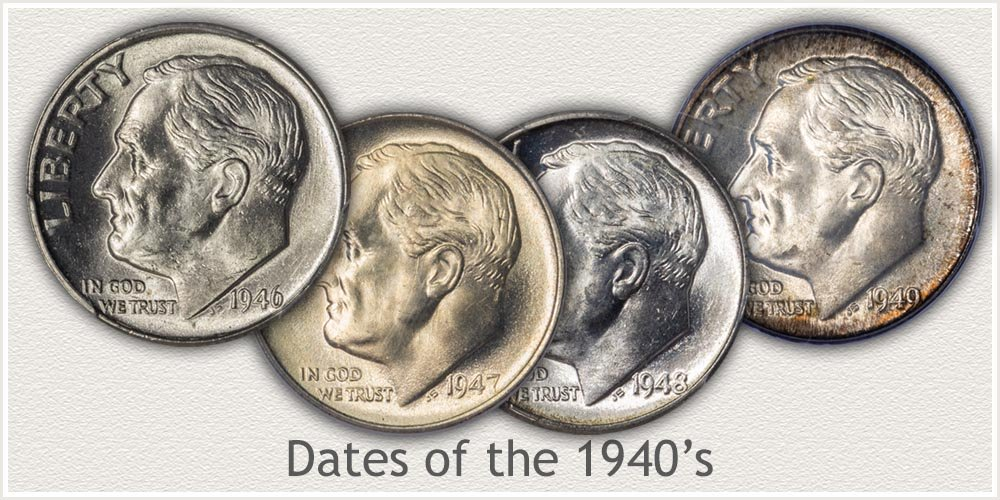 Mint State Silver Roosevelt Dimes