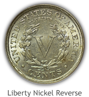 Mint State Liberty Nickel Reverse