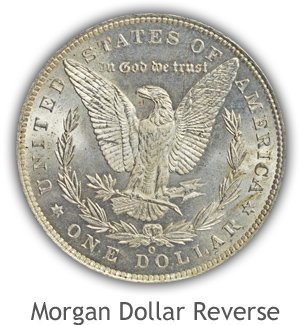 Mint State Morgan Silver Dollar Reverse
