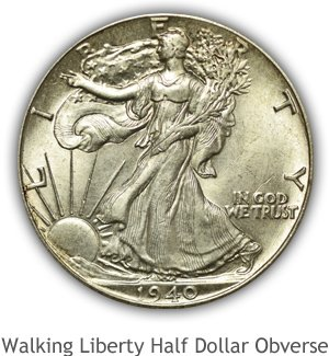 Mint State Walking Liberty Half Dollar Obverse