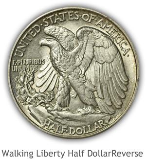 Mint State Walking Liberty Half Dollar Reverse