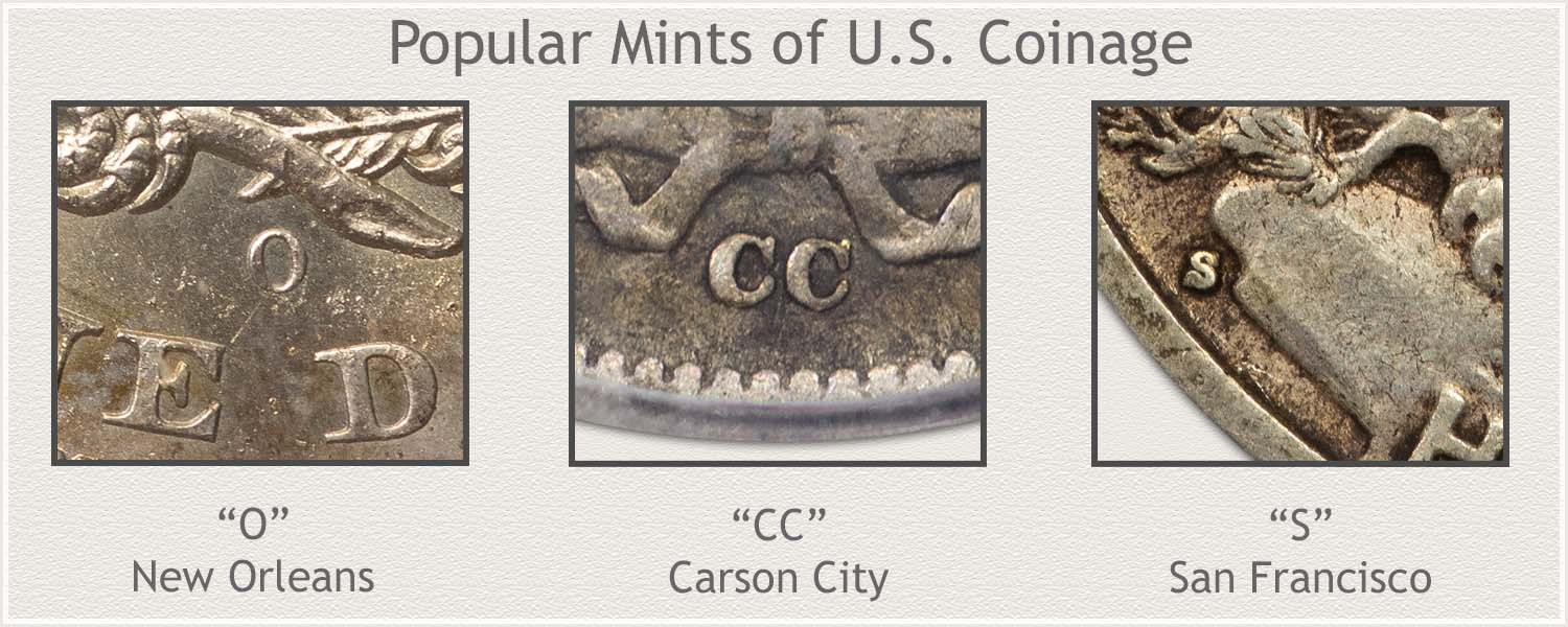 Mintmarks of Popular Mints: New Orleans, Carson City, and San Francisco