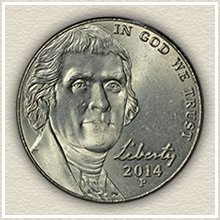 Current Jefferson Nickel Design
